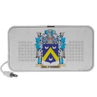 Escudo de armas de Del-Fabbro - escudo de la famil Laptop Altavoz