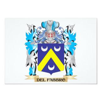 Escudo de armas de Del-Fabbro - escudo de la Invitación 12,7 X 17,8 Cm
