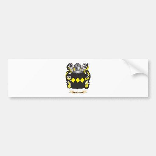 Escudo de armas de Del Grande Etiqueta De Parachoque