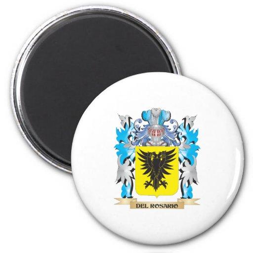 Escudo de armas de Del-Rosario - escudo de la fami Imanes