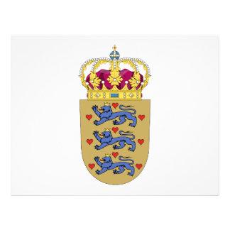 Escudo de armas de Dinamarca Tarjetas Informativas