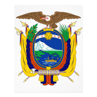 Escudo de armas de Ecuador Tarjetón
