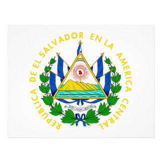 Escudo de armas de El Salvador Folleto 21,6 X 28 Cm