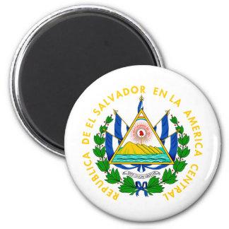 Escudo de armas de El Salvador Imán Redondo 5 Cm