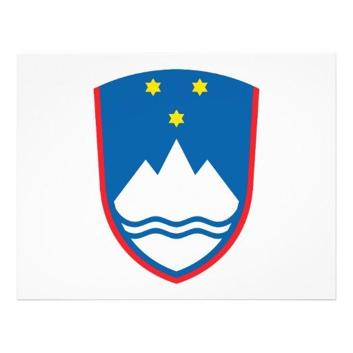 Escudo de armas de Eslovenia Tarjeton