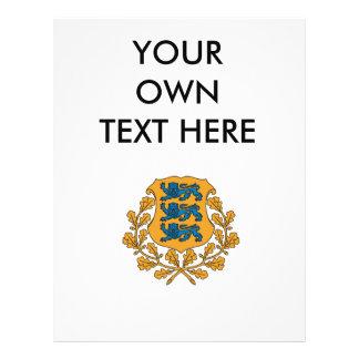 Escudo de armas de Estonia Tarjetones