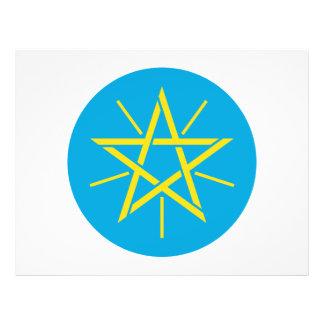 Escudo de armas de Etiopía Tarjeta Publicitaria
