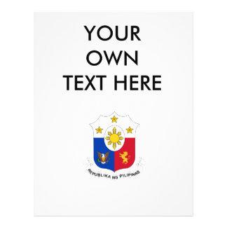 Escudo de armas de Filipinas Flyer Personalizado