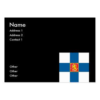 Escudo de armas de Finlandia Plantilla De Tarjeta De Visita