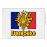 Escudo de armas de Francia Felicitacion