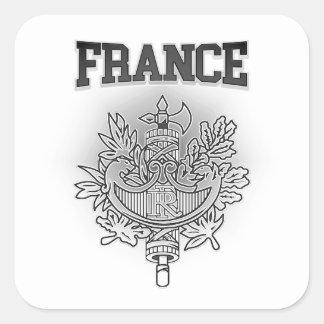 Escudo de armas de Francia Pegatina Cuadrada