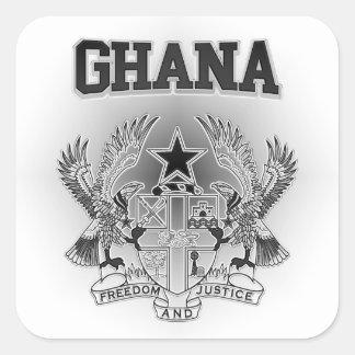 Escudo de armas de Ghana Pegatina Cuadrada