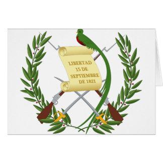 Escudo de armas de Guatemala - escudo de armas Tarjeta De Felicitación