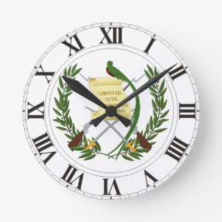 Escudo de armas de Guatemala Reloj Redondo Mediano