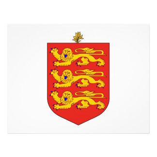 Escudo de armas de Guernesey Flyer A Todo Color