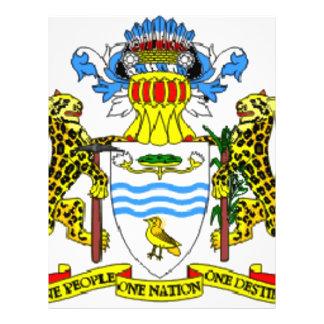 Escudo de armas de Guyana Folleto 21,6 X 28 Cm