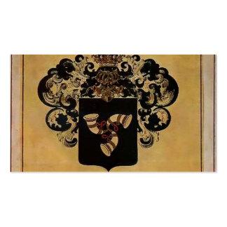Escudo de armas de Heorhiy Narbut- de la familia d Plantilla De Tarjeta De Visita