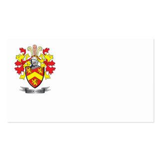Escudo de armas de Hughes Tarjetas De Visita