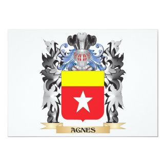 Escudo de armas de Inés - escudo de la familia Invitación 12,7 X 17,8 Cm