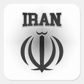 Escudo de armas de Irán Pegatina Cuadrada