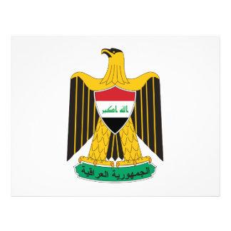 Escudo de armas de Iraq Flyer A Todo Color