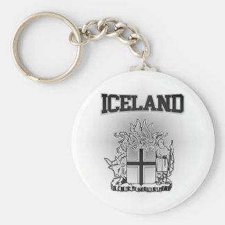 Escudo de armas de Islandia Llavero Redondo Tipo Chapa