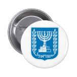 Escudo de armas de Israel - del sello y del escudo Pin