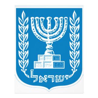 Escudo de armas de Israel - del sello y del escudo Tarjeta Publicitaria