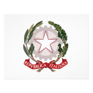 Escudo de armas de Italia Tarjetas Informativas