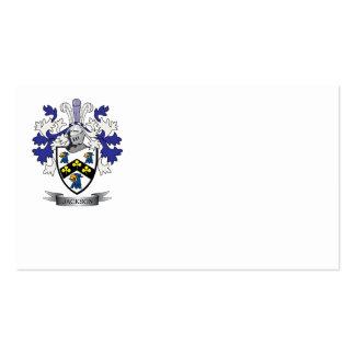 Escudo de armas de Jackson Tarjetas De Visita