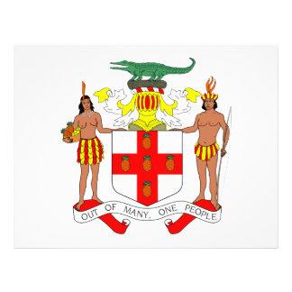 Escudo de armas de Jamaica Tarjetón