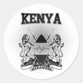 Escudo de armas de Kenia Pegatina Redonda