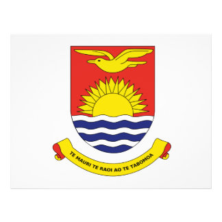 Escudo de armas de Kiribati Flyer A Todo Color