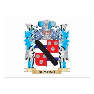 Escudo de armas de la almendra plantillas de tarjeta de negocio