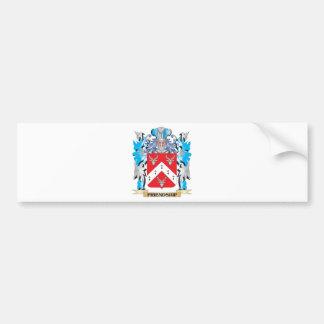 Escudo de armas de la amistad - escudo de la etiqueta de parachoque