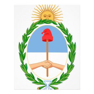 Escudo de armas de la Argentina Folleto 21,6 X 28 Cm