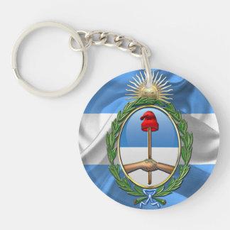 Escudo de armas de la Argentina Llavero Redondo Acrílico A Una Cara