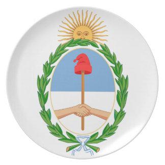 Escudo de armas de la Argentina Platos De Comidas