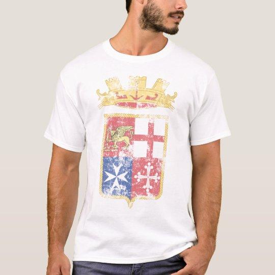 Escudo de armas de la camiseta de la marina de