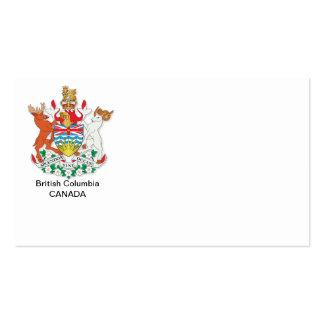 Escudo de armas de la Columbia Británica Tarjetas De Visita