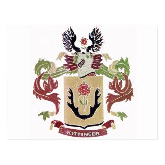 Escudo de armas de la familia de Kittinger (escudo Postal
