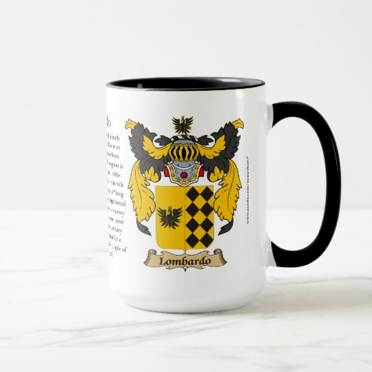 Escudo de armas de la familia de Lombardo Taza