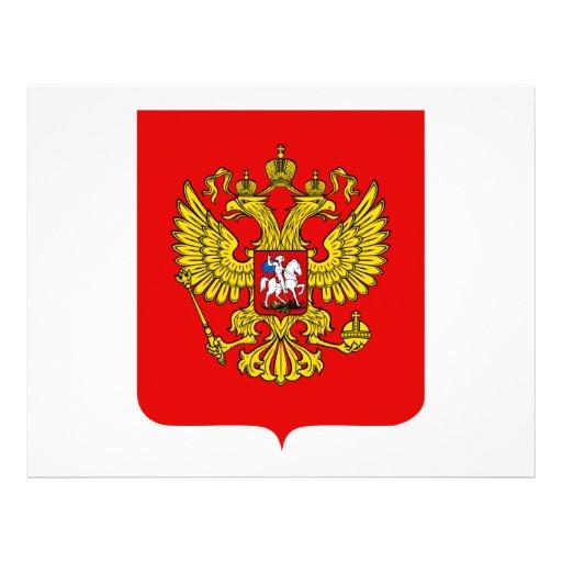 Escudo de armas de la Federación Rusa Flyer A Todo Color