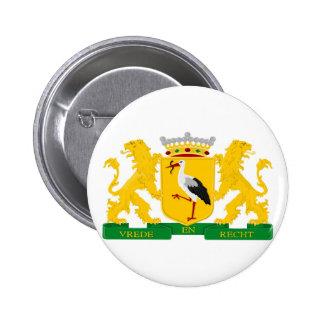 Escudo de armas de La Haya Chapa Redonda De 5 Cm