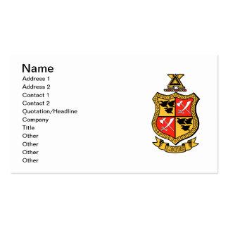 Escudo de armas de la ji del delta tarjetas de visita