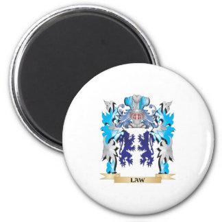 Escudo de armas de la ley - escudo de la familia imán de frigorifico