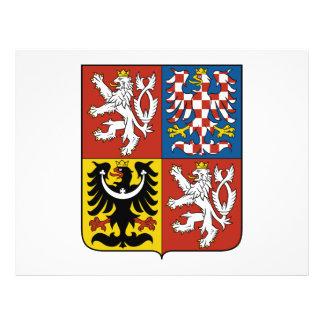 Escudo de armas de la República Checa Tarjeton