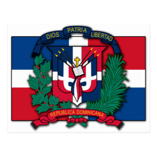 Escudo de armas de la República Dominicana Postal