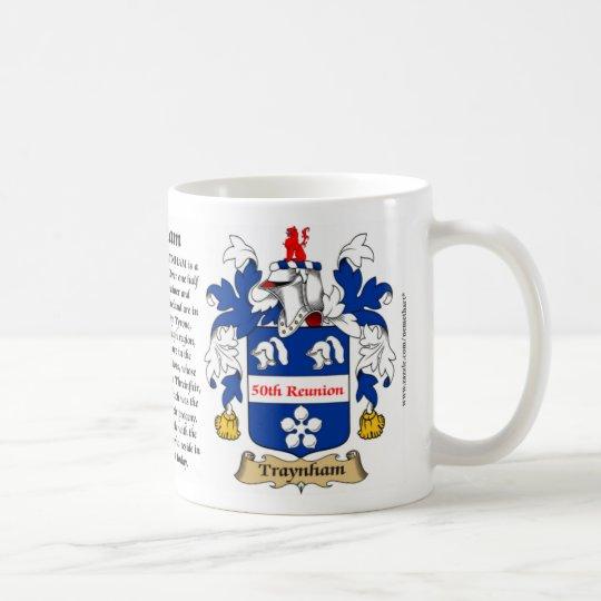 Escudo de armas de la reunión de Traynham 50.o Taza De Café