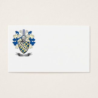 Escudo de armas de la sala tarjeta de negocios